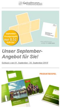 September Angebot 2015